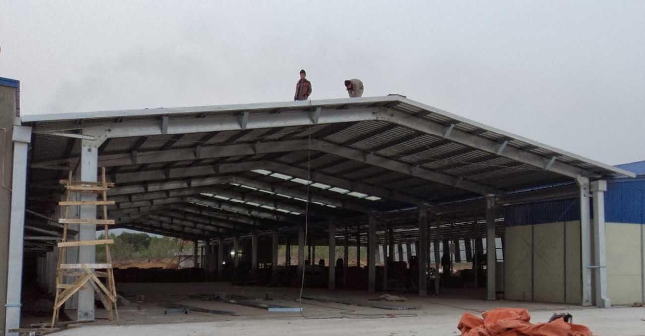 Thi công mái tôn nhà xưởng tphcm