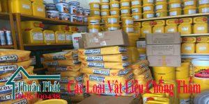 Các loại vật liệu chống thấm chất lượng - xử lí chống thấm hiệu quả