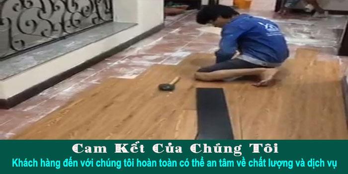 Thi công sàn nhựa giả gỗ tại TPHCM