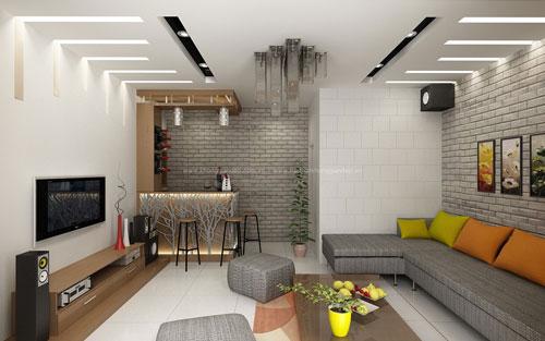Báo giá ốp gạch tường phòng khách giá rẻ chất lượng