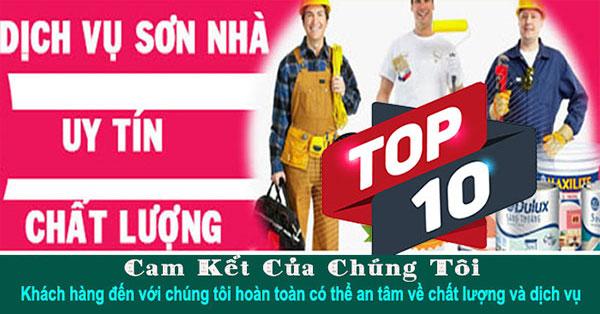 Top 10 dịch vụ thợ sơn nhà uy tín