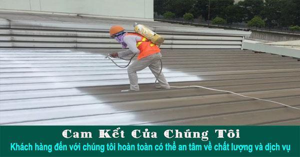 Báo giá thi công sơn mái tôn giá rẻ