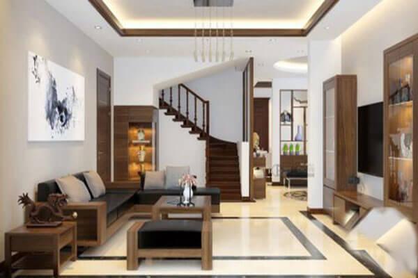 Thiết kế phòng khách nhà ống mang phong cách giản dị, tao nhã