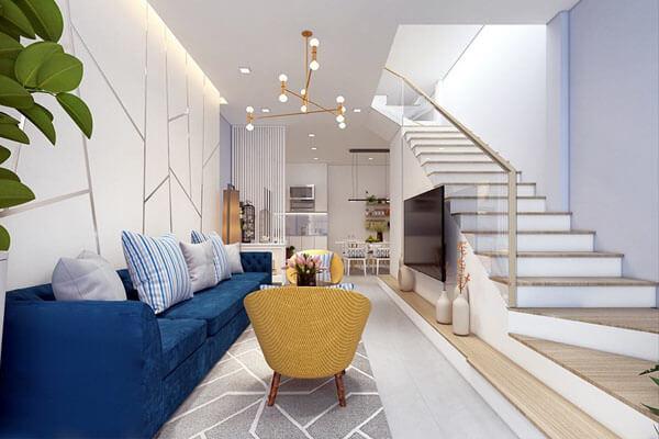 Thiết kế phòng khách nhà ống mang phong cách sang trọng, lịch lãm