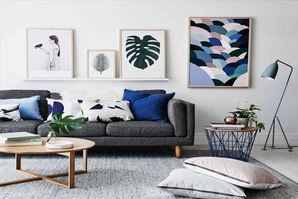 Thiết kế phòng khách mang phong cách đơn giản và nhẹ nhàng
