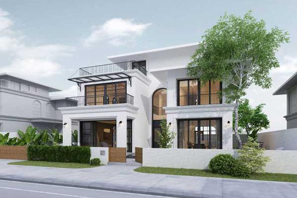 Thiết kế nhà 2 tầng theo phong cách sang trọng và hiện đại