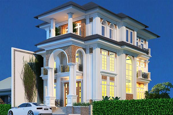 Mẫu thiết kế nhà mang phong cách Châu Âu
